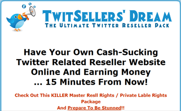 Twitter Resellers Dream With Resell Rights